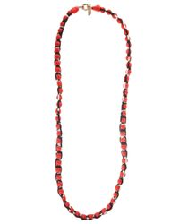 Missoni - Red Roped Ball Long Necklace - Lyst