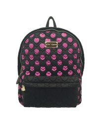 Betsey Johnson | Black Tie The Knot Qulited Backpack | Lyst