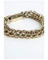 Missguided   Metallic Magna Gold Link Bracelet   Lyst