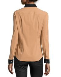 Michael Kors - Natural Two-tone Button-down Shirt - Lyst