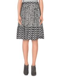 Marco Bologna - Black Knee Length Skirt - Lyst