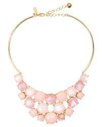 Kate Spade | Pink Smell The Roses Bib Necklace | Lyst