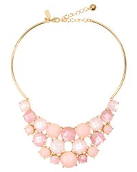 kate spade new york | Pink Smell The Roses Bib Necklace | Lyst