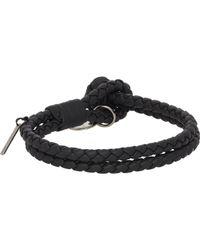 Bottega Veneta | Gray Intrecciato Double Bracelet for Men | Lyst