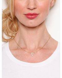 BaubleBar - Metallic Gold Tiny Triad Pendant - Lyst