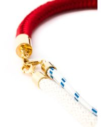 Marni | Red Contrasting Panel Rope Necklace | Lyst