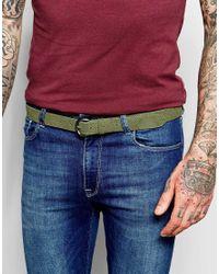 ASOS - Green Suede Belt With Snakeskin Emboss for Men - Lyst
