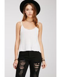 Forever 21 | White Ribbed Knit Sweater Tank | Lyst