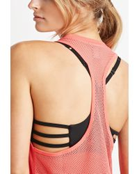Forever 21 - Pink Active Mesh-back Pocket Tank - Lyst