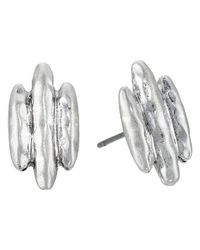 The Sak | Metallic Three Bar Stud Earrings | Lyst