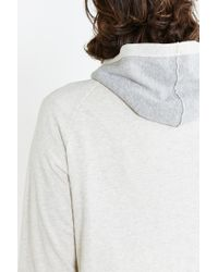 BDG - White Colorblock Pullover Hooded Sweatshirt for Men - Lyst