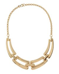 Kenneth Jay Lane | Metallic 22k Gold-plated Tiered Bib Necklace | Lyst