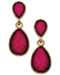 Style & Co. | Pink Gold-tone Tiny Teardrop Earrings | Lyst