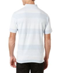 Perry Ellis | Blue Tonal Striped Polo for Men | Lyst