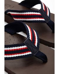 Forever 21 | Blue Stripe Flip-flops for Men | Lyst