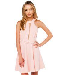 Akira Black Label Pink Carmen Blush Skater Dress