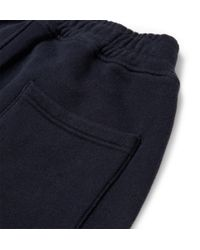Balmain - Blue Cotton Jersey Biker Sweatpants for Men - Lyst