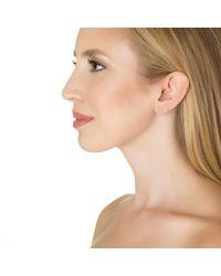 Alexa Leigh   Yellow Pave Bar Earring   Lyst