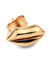 Alison Lou - Yellow 14kt Gold Lip Stud Earring - Lyst