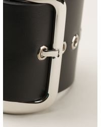 Givenchy - Black Buckle Cuff - Lyst