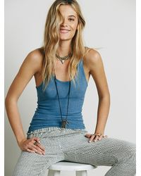 Free People - Blue Intimately Womens Lou Slinky Racerback - Lyst