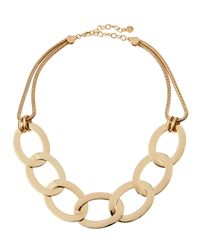 R.j. Graziano | Metallic Chunky Golden Oval Chain-link Necklace | Lyst