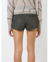 Rag & Bone   Gray Front Zip Shorts   Lyst
