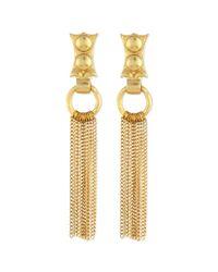 Stephanie Kantis | Metallic 24k Gold-dipped Caesar Chain Fringe Earrings | Lyst