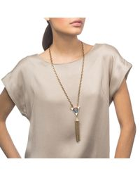 Lulu Frost | Metallic Petra Tassel Necklace | Lyst
