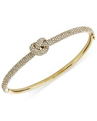 Michael Kors | Metallic Clear Knot Bangle Bracelet | Lyst