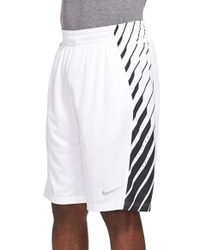 Nike White 'elite Powerup' Dri-fit Basketball Shorts for men