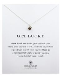 Dogeared | Metallic Reminders Get Lucky Sterling Silver Pendant Necklace | Lyst