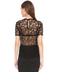 Nina Ricci - Black Lace Top - Lyst