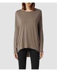AllSaints | Brown Wave Top | Lyst