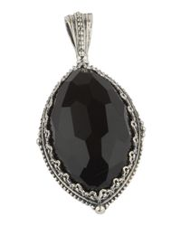 Konstantino | Black Silver & Onyx Locket Pendant Enhancer | Lyst