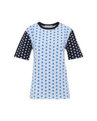 J.W.Anderson | Blue Polka Dot T-shirt | Lyst