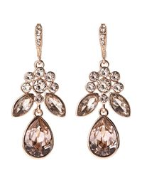 Givenchy | White Rose Gold-Tone Drop Earrings | Lyst