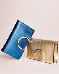 Chloé - Gabrielle Metallic Clutch Bag - Lyst