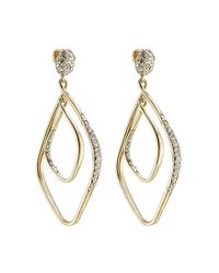Alexis Bittar - Metallic Linear Orbit Gold Plated Earrings With Crystals - Lyst