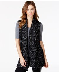 Kensie - Black Space-dye Sweater Vest - Lyst