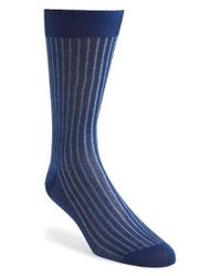 Canali - Blue Ribbed Socks for Men - Lyst