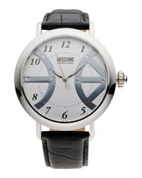 Boutique Moschino - Metallic Wrist Watch - Lyst