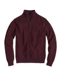 J.Crew - Red Slim Cotton-cashmere Half-zip Sweater for Men - Lyst