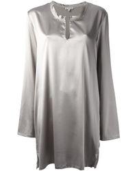 Ann Demeulemeester | Metallic Loose Fit Dress | Lyst