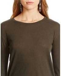 Polo Ralph Lauren | Green Long-sleeved Cotton Tee | Lyst