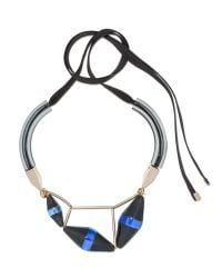 Marni - Blue Runway Necklace In Horn - Lyst