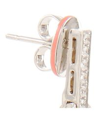 Ivanka Trump - White Agate and Diamond Double Oval Earrings - Lyst