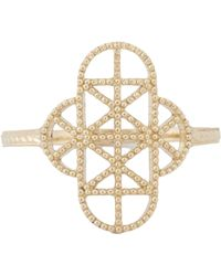 Grace Lee - Metallic Gold Lace Deco Ring Vii - Lyst