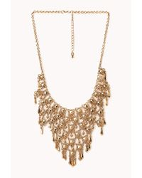 Forever 21 | Metallic Regal Caged Bib Necklace | Lyst
