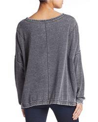 Free People | Black Oversized Knit Sweatshirt | Lyst